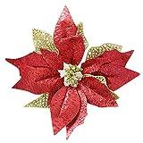RWINDG Weihnachtsbaum Ornament Weihnachten Ornament Bowknot künstliche Blumen Lieferant Plastikpflanzen Gestecke Kunstrosen Tulpen