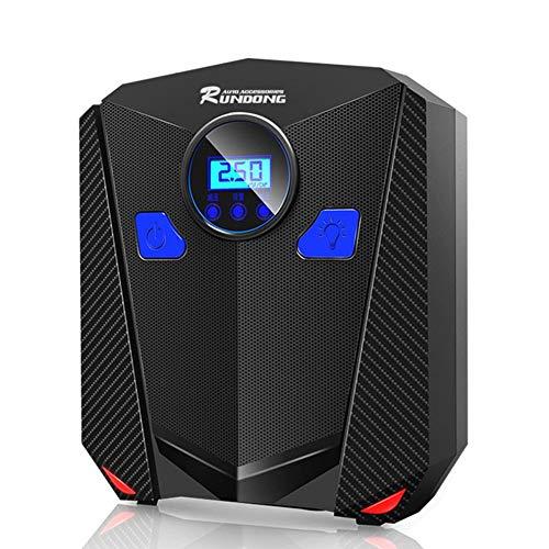 Preisvergleich Produktbild Mouchao 12V Digitalanzeige Tragbare elektrische Reifenfüller Pumpe Einzylinder Schwarz Digital Version 22 Zylinder