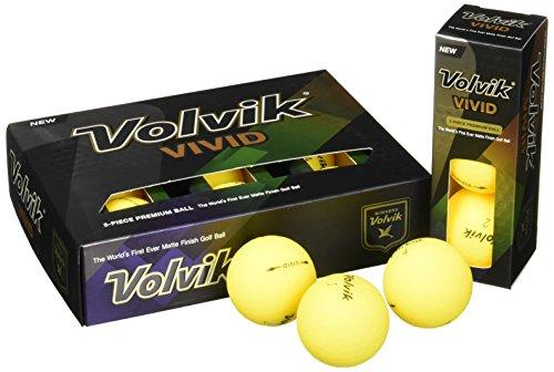 Volvik Leuchtend Golfbälle (Ein Dutzend) - Matt Gelb, N/A