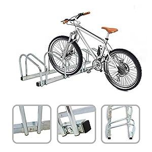Todeco - Portabiciclette, Portabici - Dimensione: 132 x 32 x 26 cm - Tipo di installazione: Montaggio a parete - Supporta 5 biciclette 17 spesavip