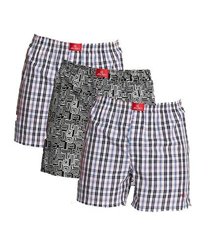 Jockey Usa Originals Printed Boxer Shorts - Assorted Pack Of 3 (colors May Vary)