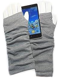 PRESKIN - gants manchette élégant , Cool - mais chaleureux, gants longs, pour plus de tact pour smartphones, Navi, tablette ...