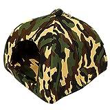 BOZEVON Haustier-Campingzelt - Hundezelt - Katzenzelt - Kleine Tiere Indoor Outdoor Shelter-Zelt (Armeegrün,2XL (45 * 45cm))