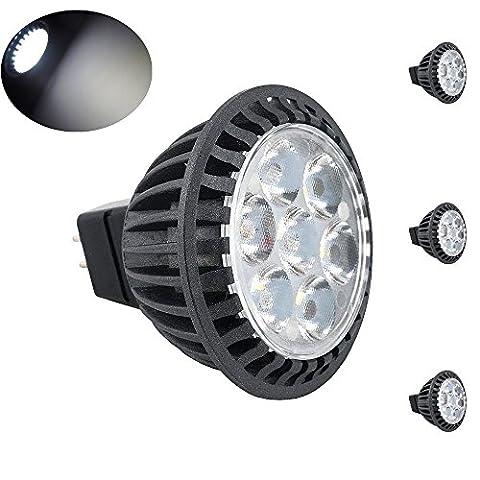 Bonlux 3-Pack 5W MR16 GU5.3 LED Spotlight Kaltweiß 6000K 220-240 Volt 45 Grad wie 50W Halogen GU5.3 LED-Birnen für Deckeneinbauleuchte Downlight Track Beleuchtung