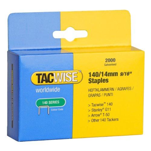 Tacwise 0349 Boîte de 2000 Agrafes galvanisées 14 mm Type 140