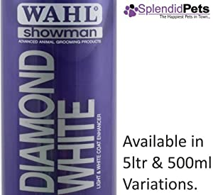 500ml Wahl Showman Diamond White Shampoo Dog/ Horse Grooming