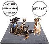 Yangbaga Tappetino per la Protezione del Suolo per Cani Cuscinetti per addestramento Riutilizzabile Paddle Pad Resistente allo Scivolamento può tagliarsi 182 * 182 cm Grigio