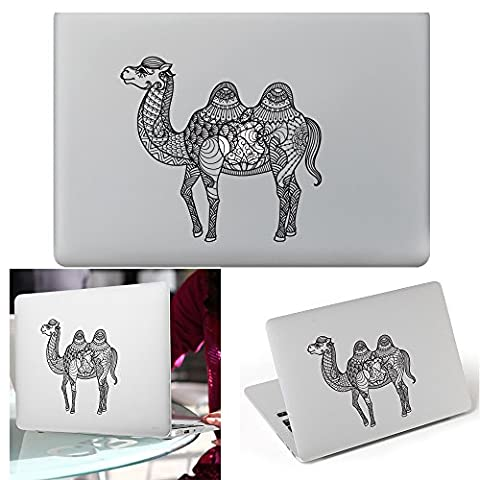 Macbook Aufkleber Abziehbild, YUDA Tech Abnehmbar Kamel Entwurf Vinyl Decal Haut Stickers Passt Perfekt f¨¹r Laptop MacBook Air/Pro/Retina 13 15 Zoll