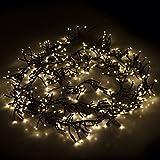 Multistore 2002 384er LED Cluster - Lichterkette 580cm / LED-Lichter Warmweiß / 8 Leuchteffekte/Indoor & Outdoor