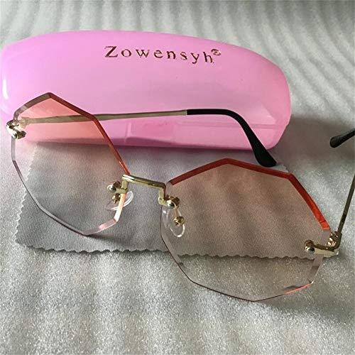 LAOGUAISHOU Runde Sonnenbrille Zeigen Eine Schlanke Und Gut Abgestimmte Randlose Sonnenbrille (Lens Height : 58mm, Lens Width : 58mm-Multi)