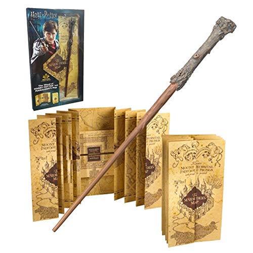 HARRY POTTER Zauberstab & Harry Potter Marauders Map Complete Collection | Authentische Merchandise | Ultimative Geschenke Collectors Edition (Mit Potter Karte Harry Zauberstab)