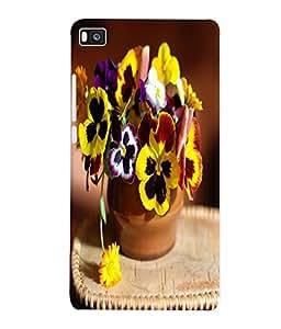 Fuson 3D Printed Flowers Designer Back Case Cover for Huawei Honor P8 - D764