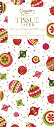 Entertaining with Caspari Tissue Paper, Calico Ornaments, 4-Sheets