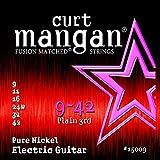 Curt Mangan Pure Nickel 9-42 jeu de cordes pour guitare électrique