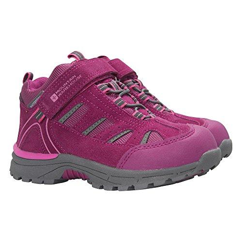 Mountain Warehouse Drift Junior Stiefel für Kinder - Wasserfeste Regenstiefel, strapazierfähig, Atmungsaktiv, Schuhe mit griffiger Sohle - Für Mädchen und Jungen Rosa 28 EU (Jugend-jungen Schuhe)
