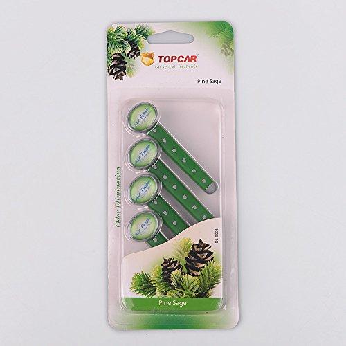 Set 4pcs Deodoranti ambientali diffusori di clip per griglia di ventilazione dell'automobile, odorizzante per auto rinfrescante di aria dell'automobile con pinze, 6 profumazioni, lunga durata, Pine Sage (Salvia di Pino)