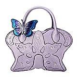JBAG-one Bolso de Cuero de la PU de la Mariposa de Las Mujeres, Bolsos del Animal del Estilo étnico del Vintage,Purple