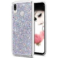 Funda para Huawei P20 Lite, funda para Huawei P20 Lite, ikasus brillante brillante con purpurina en polvo 3D de diamante Paillette Slim Glitter Flexible de goma suave TPU carcasa protectora para Huawei P20 Lite,