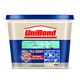 UniBond 1617923 Triple Protect Anti-Mould Wall Tile Grout - Beige
