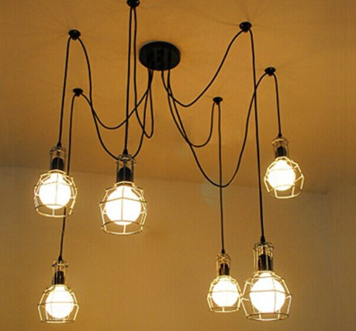 Unitary BRAND Vintage Barn Metal Chandelier Max 360W With 6 Lights Plating Finish