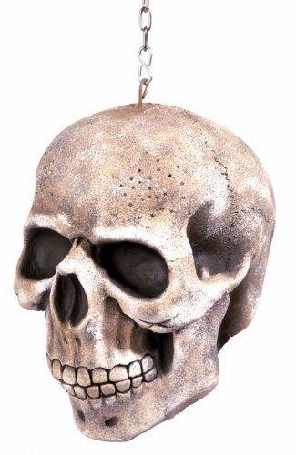 Totenkopf mit Kette, circa 20 cm (20 Halloween Kostüm Ideen)