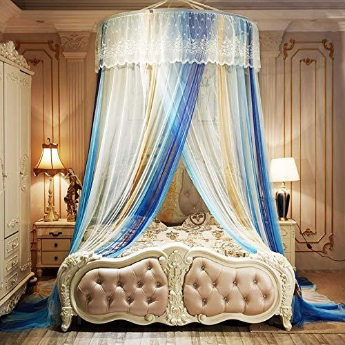 Mosquito NET Home Prinzessin Runde Lace Dome Bett Netting Baldachin Moskitonetz Queen-Size-Bett Net Romantic Full Coverage (Size : 1.5m beds) - Queen-size-baldachin-bett