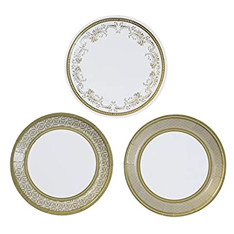 Talking Tables Party Porcelain Gold Paper Canape Plates for a