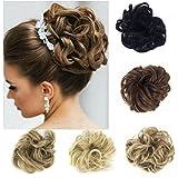 FUT Scrunchy Scrunchie Hair Bun Updo Hairpiece Ponytail Hair Extensions Wavy Curly Messy Hair Bun Extensions Donut... - B07428QQ1T
