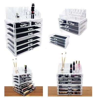 enyaa klar kosmetik-Organizer aus Acryl Display Ständer Aufbewahrung Tisch für Make Up, 4, 5und 6Schubladen Nagellack, Lack, Kunst und Kunsthandwerk, Pinsel-Sets, und Schmuck Box mit Schubladen, 4 drawar