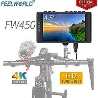 Feelworld FW450 4.5 Zoll DSLR Kamera Field Monitor Camera Small HD Focus Video Assist 1280x800 IPS mit 4K HDMI Input Output