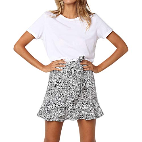 Beonzale Mode 2019 Womens Casual Retro Hohe Taille Abend Party Short Print Casual Retro Hohe Taille Print Design Abend Party Kurzer Rock