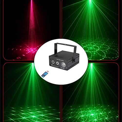 ZhanmaK LED Party Light Lava Lampenprojektor - Mini Lichter for Partys, Disco, Outdoor & Bühnenshow - DJ Beleuchtung mit Fernbedienung, Sound Aktivierung & Variabler Geschwindigkeit ZHANMA