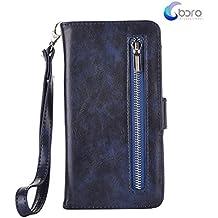 Custodia portafoglio BORA Samsung Galaxy Note5 con custodia posteriore smontabile, slot per carte, tasca di contanti, visione facile, stile Folio, protegge lo schermo dal graffio.