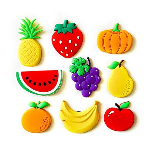 Cute Cartoon Obst Gemüse Serie Kühlschrank Kühlschrankmagnete Set Nachricht Bord Lassen Nachricht Magnetische Aufkleber.