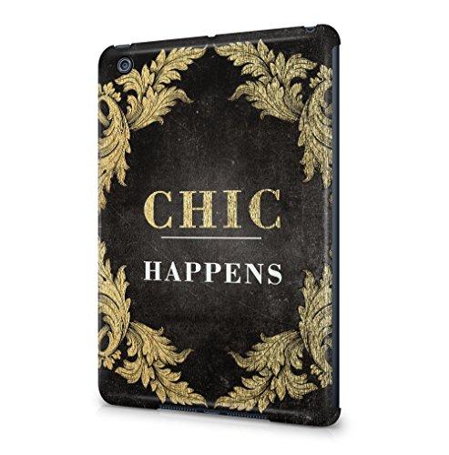 Maceste Chic Happens Kompatibel mit Apple iPad Mini 1 SnapOn Hard Plastic Tablet Protective Fall Handyhülle Case Cover