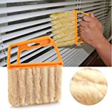 Láminas de persiana veneciana de cepillo para limpiar el polvo limpiador Mini Duster lavable fácil