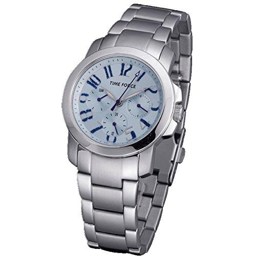 Montre Time Force Señora chaîne acier multifonction. Domaine Bleu. tf-3251l03m
