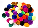 EduKit Large 5cm Pompoms Craft Supply Bumper Pack   70 PC Colorful Hobby & Craft Supplies for Kids, Preschoolers & Classrooms