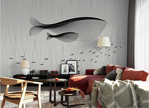 Yosot 3D-Schlichten, Modernen Big Fish Begonia Linie Schlafzimmer Sofa Hintergrund Wandbilder Tapeten-200Cmx140Cm (Moderne Linien, Moderne Sofa)