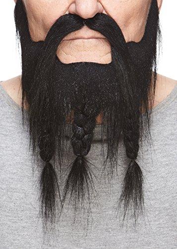 Mustaches Geflochtener schwarzer Kapitäns fälschen, selbstklebend Bart mit Schnurrbart