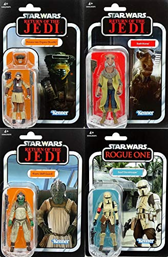 Hasbro Star Wars Bundle Princess Leia, Klaatu, Saelt Marae & Scarif Stormtrooper The Vintage Collection