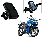 Description: iKross Waterproof Universal Bike Mount includes a waterproof enclosure and a rotating mount designed to safely and securely hold your smartphones and electronic devices on bicycle or motorcycle bars. The waterproof enclosure keeps your d...
