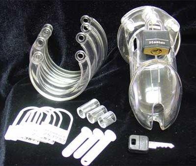 Vergleichen mit CB-6000S Keuschheitsgerät - Transparent (Kurz) - Compare to CB-6000S Male Chastity Device - Transparent (Short)