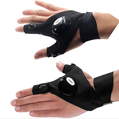 Gants Lampe de poche LED, Cuitan Mitaines Thumb Index...
