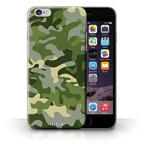 Kobalt Bianco 4 stampato Custodia Cover per iPhone 6+/Plus 5.5 cellulari telefoni / Collezione Camuffamento Army Navy Verde 1