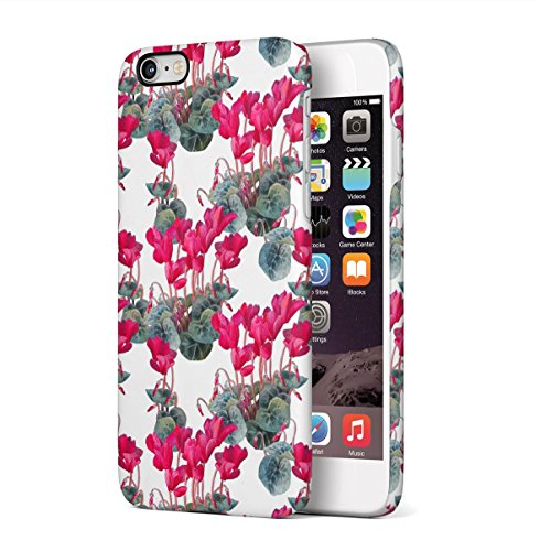 Flower Crimson Pink Cyclamen Blossom Pattern Apple iPhone 6 PLUS , iPhone 6S PLUS Snap-On Hard Plastic Protective Shell Case Cover Tasche Handy Hülle Apple Blossom Pattern