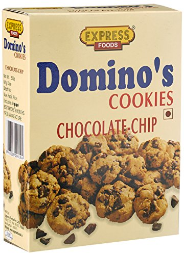 Express Foods Chocolate Chip dominos Cookies, 200g  available at amazon for Rs.109