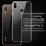 Huawei P20 Lite Back Pellicola Protettiva Posteriore 2- Packs Full Coverage Vetro Temperato Anti-graffio Copertina Completa Durezza da 9H Anti-Fingerprint Screen Protector per Huawei P20 Lite