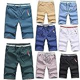 Malloom® Herren Cotton Sweat Short Kurze Hose Bermuda Sweatpant