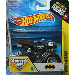 Hot Wheels, 2015 Off-Road, Monster Jam Batman [Black] Die-Cast Vehicle #32, 1:64 Scale by Mattel